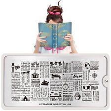 Moyou London Stamping Schablonen Plate Uhr Zelt Boot Literature 04