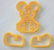 Cortador de galletas en forma de Mickey, Cortadores, Fondant Sugarcraft 3D,, Galletas