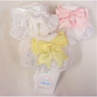 Gorgeous Baby Girl Spanish Big Frilly Socks Ribbon& Lace Satin Double Bow
