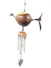 Handmade Hanging Wind Chimes Whimsical Bird Animal Spinner Outdoor Porch Garden
