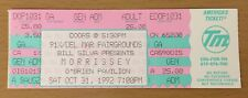 1992 Morrissey Del Mar California Concert Ticket Your Arsenal Tour The Smiths