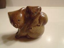 "Beautiful Ceramic Koala Bear And Baby Figure Made By ""Aussie Mud"""
