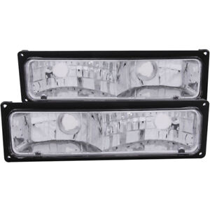 ANZO for 1988-1998 Chevrolet C1500 Euro Parking Lights Black - anz511033