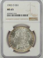 1902-O $1 MORGAN SILVER DOLLAR NGC MS65 #4599047-018 GEM WITH EYE APPEAL!!!