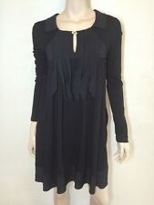 Twin-Set by Simona Barbieri Italy black jersey dress ~ suit AUS 10-12