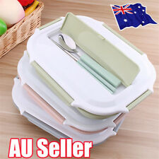 Kids Lunch Box Stainless Steel Thermal Bento Children Divided Food Container BO