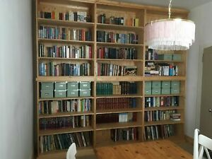 PINE FURNITURE SOLID PINE EXTRA LARGE BOOK RACK DIFFERENT SIZES AVAILABLE