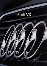 Prospekt Audi V8 6/90 brochure 1990 Auto Broschüre Autoprospekt broschyr catalog
