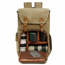 Camera Backpack Waterproof Canvas Outdoor Photography Durable Material