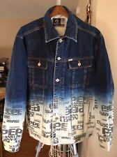 Vintage Pepe Jeans London W11-73 Lot AA Blue Faded Denim Trucker Jacket Size XL