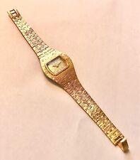 Ladies Tissot 70's Bark Effect Wrist Watch Swiss Made Gold Plated Working Order