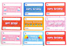 Happy Birthday Gift and Present Tags Colourful Labels Stickers 5 Design Choices Hbw-7550-2