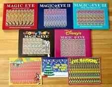 Lot 8 MAGIC EYE & EYE ILLUSION Books I II III Looney Tunes Disney Space Jam L1