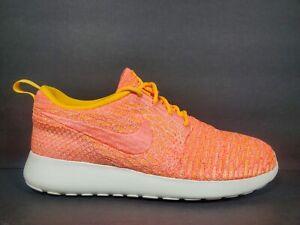 Nike Roshe One Flyknit Womens Size 7.5 Shoes Bright Mango Sail Orange 704927 802
