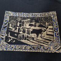 Vintage Screen Stars Best Tshirt Stonehenge Black Blue Size Medium