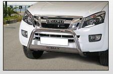 ISUZU D-MAX 2012 BULL BAR MIRROR INOX 60 LUC.C/SCRITTA
