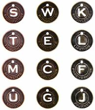 Idea-Ology Metal Muse Tokens 12/Pkg-Antique Nickel, Brass & Copper .875""
