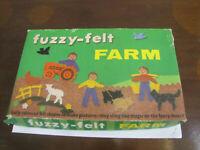Vintage Fuzzy Felt Farm Set