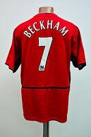 MANCHESTER UNITED ENGLAND 2002/2003 HOME FOOTBALL SHIRT JERSEY NIKE BECKHAM #7