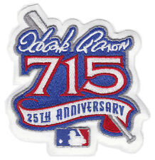 1999 HANK AARON 715 HR 25TH YEAR ANNIVERSARY MLB BASEBALL JERSEY SLEEVE PATCH