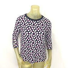a2c4a24a0f1f Crown & Ivy Petite Small Top Shirt Blue White Polka Dot Long Sleeve