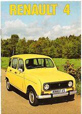 Renault 4 1975-76 UK Market Sales Brochure L TL Estate Van Pick Up