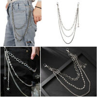 SoUrcerer Jeans Chain Pants KeyChain Star Tassel Catena del portafogli Roccia