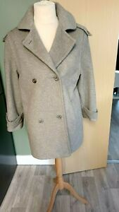 House Of Fraser Exclusive Cashmere  Wool Coat Grey Ladies Womens Size 14