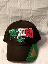 MEXICO MEXICAN MX BASEBALL CAP HAT ( BLACK )