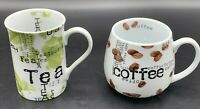 Konitz Coffee Bean & Tea Mug Cup Porcelain Cups Germany Black Font Lot