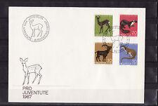 c/ Suisse enveloppe  pro juventute  1967  faune sauvage