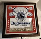 Budweiser King Of Beers Lighted Sign With Gold Clydsdales And Clock