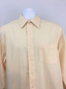Brooks Brothers Orange and White Striped Long Sleeve Button Down Size 16-4