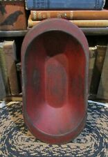 New ListingWood Dough/Candle Bowl*Barn Red*Primitive/French Country Kitchen/Farmhouse Decor