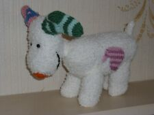 Hand Knitted soft toy Snowdog great at Christmas By Knitted Creations only £12+