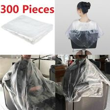 300 Pcs Disposable Hair Cutting Cape Clear Gown Barber Capes Home Hairdressing