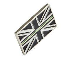 Mince Vert Ligne Union Jack Métal Cravate Broche Pins Badge Ambulance Infirmière