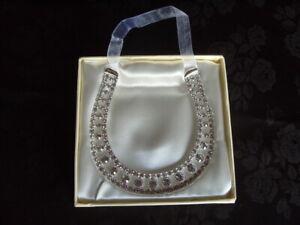 Diamante Good Luck Horse Shoe QUALITY ITEM Very Sparkly G241