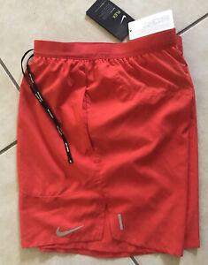 "Mens Nike Flex Stride Brief-Lined Running 7"" Shorts Red M CJ5459 Reflective"