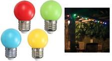 Multipack of 4 GE 15w Coloured Incandescent Golf Ball Bulbs Edison Screw Cap E27