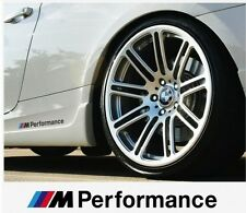 2x BMW M Performance Aufkleber decal 190mm Silber E46 E90 E60 F30 F20 M3...