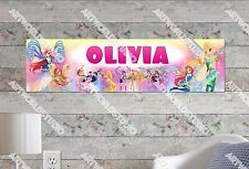 Personalized/Customized Winx Club Name Poster Wall Art Decoration Banner