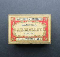 Boite scellée 100 plume JB MALLAT n°110 pen nibs box pennini