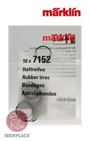 Märklin 7152 H0 escala 1:87 gomas trenes locomotora 10x Rubber tires Bandages