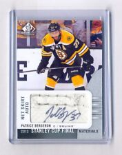 PATRICE BERGERON 2013-14 UD SP GAME USED STANLEY CUP FINALS NET SKIRT AUTO