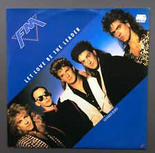 """FM - Let Love Be The Leader 12"""" Vinyl Single Record VG 1987 UK Press BSide Live"""