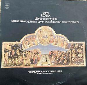 Verdi Requiem Leonard Bernstein CBS Placido Domingo Vinyl LP