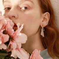 Women Pendant Earrings Geometric Fashion Long Drop Korean Style Tassel Studs HOT