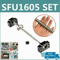 BallScrew RM1605 SFU1605 250mm-1500mm C7 W End Machined+ BK/BF12 End Support CNC