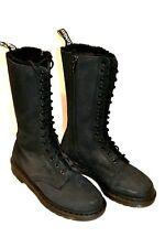 Women's Dr. Marten's Fur Lined 1B99 Classic Punk Boots Black sz9